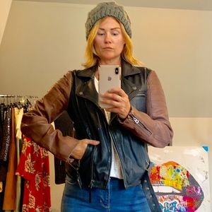 🎉HP 🎉 Lucky Brand leather jacket NWOT